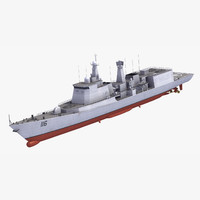 3d type051c destroyer model
