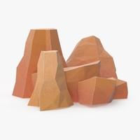 3d model boulders 1
