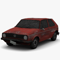 golf mk1 - damage 3d model