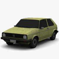 3d model golf mk1 - dirt