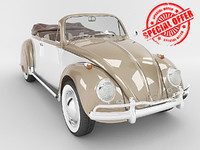 beetle volkswagen 3d model