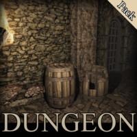 3d medieval dungeons model