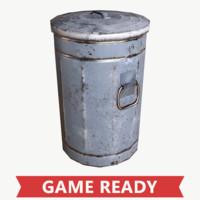 Lowpoly Trash Barrel