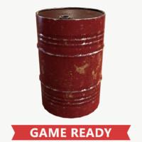 obj pbr oil barrel