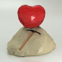 3d max stone heart