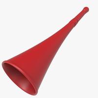 vuvuzela trumpet modelled 3ds