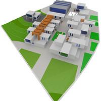 3d c4d residences architecture