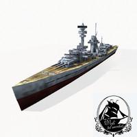 3d model armored cruiser
