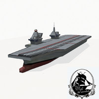 3d queen elizabeth class carrier aircraft model