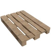 wooden euro pallet skid 3d model