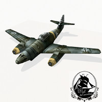 3d messerschmitt 262 fighter model