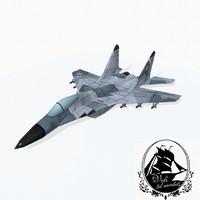 3d mig-29 jet fighter model