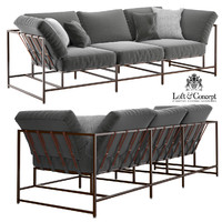 grey wool sofa 3d max