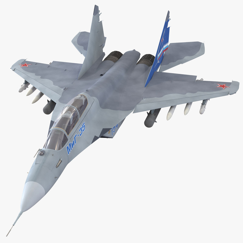 Russian Jet Fighter Mikoyan MiG-35 Rigged 3d model 00.jpg