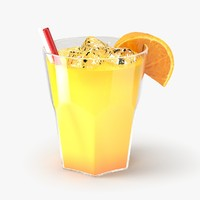 3d model of orange cocktail