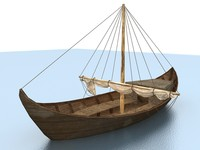old boat sail 3d model