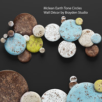 mclean earth tone circles 3d model