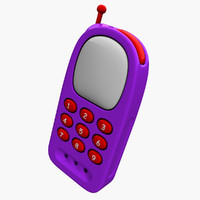 3d model cartoon mobile phone toy
