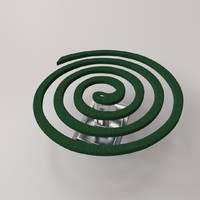 mosquito coil 3d model