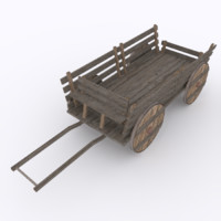 wagon transporting prop 3ds