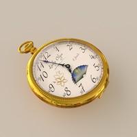 3d model pocket watch lady olga