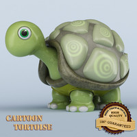 cartoon tortoise 3d model
