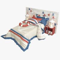 3d model nautical bed