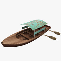 3d old wood boat 2 model