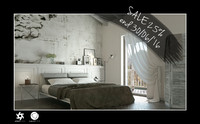 scene interior bedroom bed 3d model