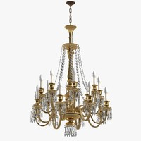 3d model of chandelier baccarat