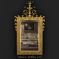 3d neoclassical gilt mirror