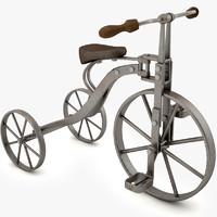 3d vintage tricycle