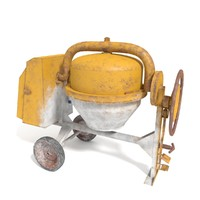 concrete cement mixer 3d obj