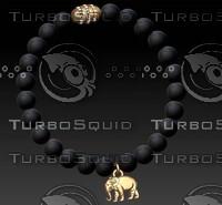 jewellery bracelet beaded 3d model