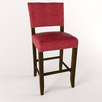 3d model bar stool alcott