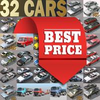 3d urban 32 cars model