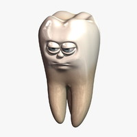 cartoon tooth 3D models