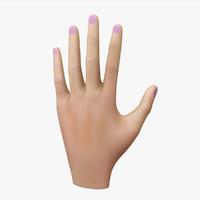 non-realistic hand 3d max