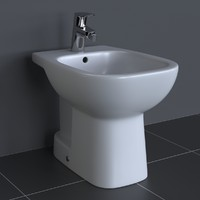 3d model of photorealistic duravit d-code bidet