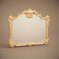 green apple mirror frame 3d model