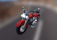 3d voxel harley model