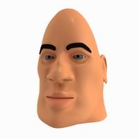 3d cartoon character faces