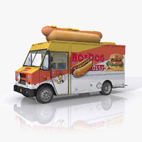 hot dog food truck 3d max