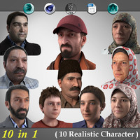 3d 10 realistic characters 1