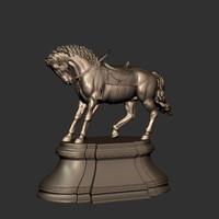 3d 3ds horse statue