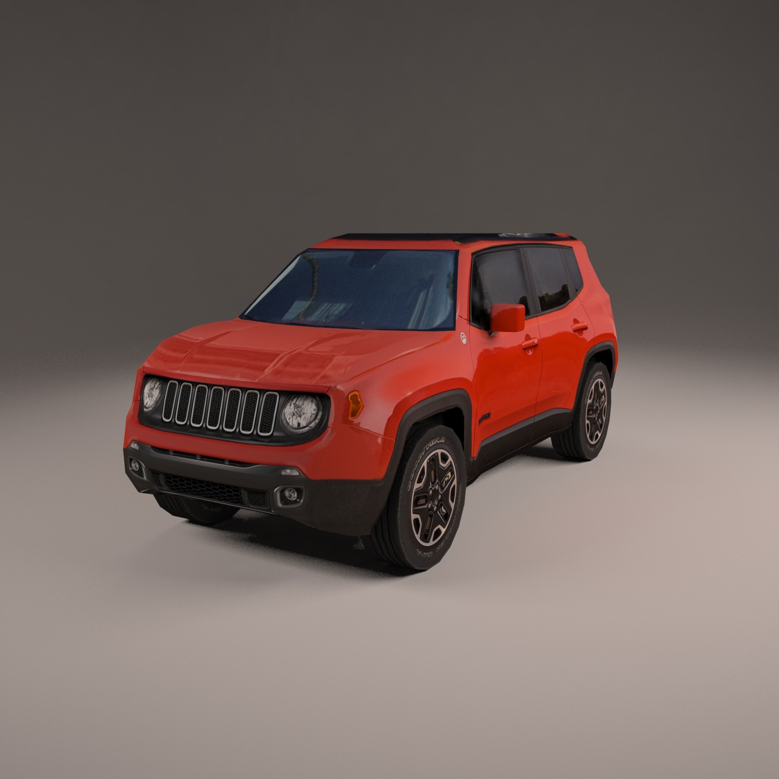 jeep renegade 4x4 3d model. Black Bedroom Furniture Sets. Home Design Ideas