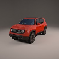 jeep renegade 4x4 3d model