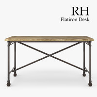 restoration hardware flatiron desk 3d max