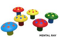 fbx toy mushroom rubber