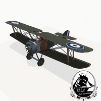 sopwith camel fighter aircraft 3d model